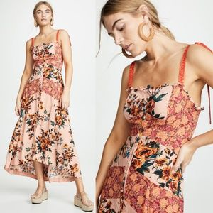 Free People Lover Boy Floral High Low Maxi Dress